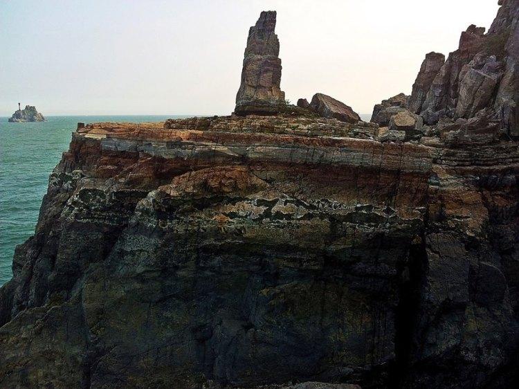 Sinseondaerock formation in Taejongdae seacoast